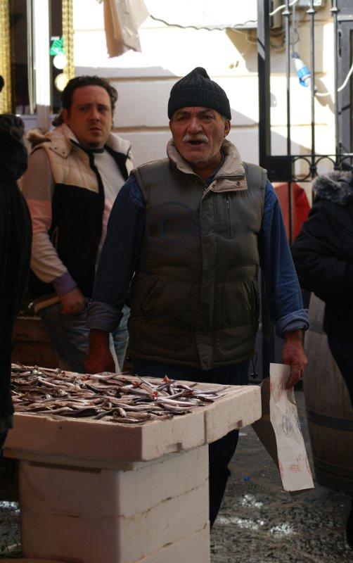 Furious Fish Market Seller, Catania